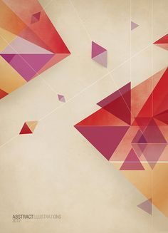 Abstract illustrations by jD style, via Behance #Geometric Shapes