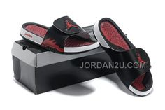 Comfortable And Cool 2013 Jordan Hydro 2 Black White Red Slipper
