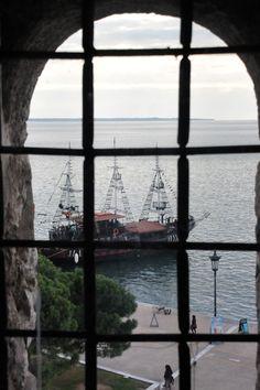 θέα από τον Πύργο Θεσσαλονίκης -view from the Tower of Thessaloniki, Greece