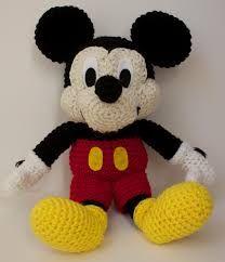 Resultado de imagen de mickey mouse ganchillo