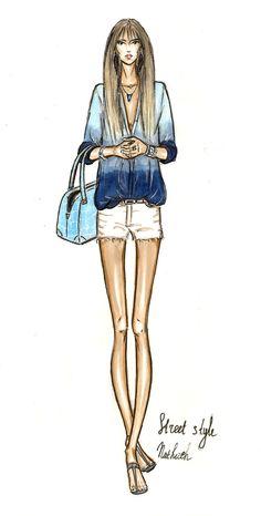 fashion sketch girl street style