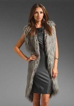 Revolve Clothing faux fur vest