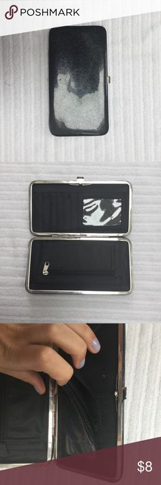 Slim Fit Wallet Excellent used condition slim fit wallet. Click closure. Contains spots for credit card and ID. Small defect in card holder, as shown.   💕💕Closet details💕💕 Completely posh compliant closet! 🎀 no trades 🎀 no holds 🎀 offers only through offer button 🎀 very negotiable! I'm more likely to make you a better deal without the bundle feature! So talk to me and let's see what we can do! 🎀 Happy poshing! 🎀💕 Claire's Bags Wallets