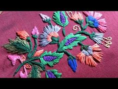 Wonderful Ribbon Embroidery Flowers by Hand Ideas. Enchanting Ribbon Embroidery Flowers by Hand Ideas. Embroidery Stitches Tutorial, Hand Embroidery Patterns, Embroidery Techniques, Embroidery Kits, Machine Embroidery, Embroidery Tattoo, Simple Embroidery, Learn Embroidery, Silk Ribbon Embroidery