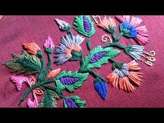 satin stitch embroidary. - YouTube