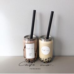 Boba tea can aesthetic drinks japanese ideas recipe pearls Cream Aesthetic, Aesthetic Coffee, Aesthetic Food, Beverage Packaging, Food Packaging, Bottle Packaging, Boba Drink, Bubble Milk Tea, Fruit Shop