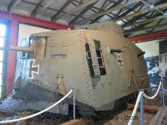 A7V First German Tank | WWI | Took the field in 1918 | 'Tank met tank' for the first time at Veillers-Bretonneux on April 24, 1918