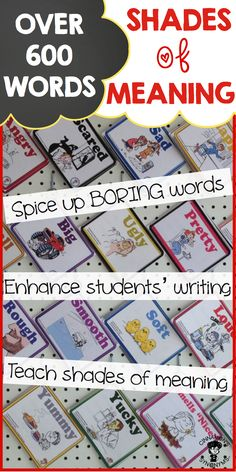 $ Teach students to WRITE DESCRIPTIVELY while helping them understand SHADES of MEANING!! This bundle of 20 mini 'picture thesauruses' has OVER 600 WORDS. Each book has been thoughtfully illustrated so that each image provides students with an understanding of the nuances of words. Build stronger writers through these engaging books!