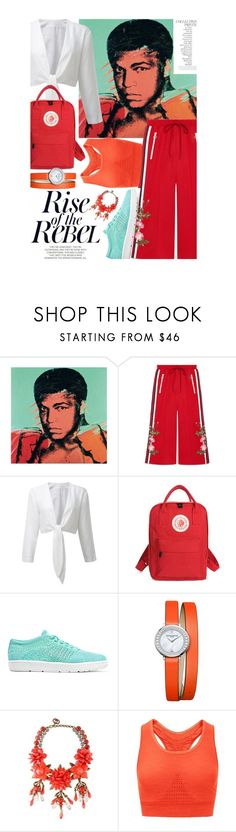 """""""Rise of the Rebel"""" by catcam13 ❤ liked on Polyvore featuring Andy Warhol, Gucci, NIKE, Baume & Mercier, Sweaty Betty and By Terry"""