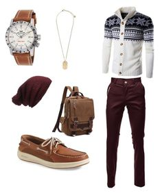 """""""Winter ☀️"""" by iyannamurphy on Polyvore featuring Sperry, Glycine, Versace, Forever 21, men's fashion and menswear"""