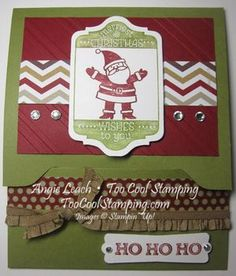 Peeking santa gc - front card holder made with envelope punch board