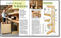 Free Plan: Overhead Lumber Rack - Fine Woodworking- browse hundreds of wood work plans
