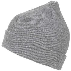 TOPSHOP Easy Beanie Hat ($20) ❤ liked on Polyvore featuring accessories, hats, accessoire, grey, gray beanie hat, gray hat, topshop, acrylic hat and gray beanie