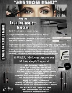 Call me today for a FREE Facial & trial of Lash Intensity! Create your boldest eyes yet! | Jennifer Emanuel, Mary Kay Sales Director, Call/Text: 214-405-2512, www.facebook.com/jenniferemanuelmk, www.marykay.com/jennemanuel