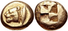 MYSIA, Kyzikos. Circa 550-450 BC. EL Stater (19mm, 16.21 g). Head of lion left; to right, tunny upward / Quadripartite incuse square. Von Fritze I 39; Greenwell 115; Boston MFA 1414 = Warren 1537; SNG BN 178; BMC 39; Gillet –; Gulbenkian –; Jameson 1403; Myrmekion –; cf. Rosen 432 (hekte); Weber 4985; Kraay & Hirmer 700. Good VF.