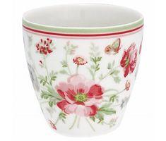 "GreenGate Mini Latte cup ""Meadow"" white"