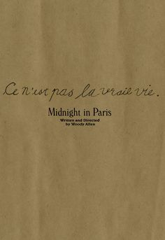 "minimalmovieposters: "" Midnight in Paris by Allie Levin "" ♥♥♥"