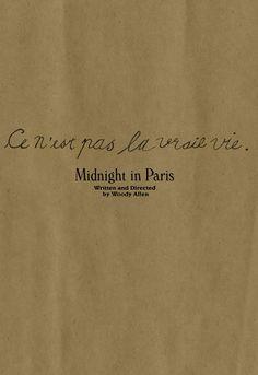 Minimal Movie Posters ~ Midnight In Paris by Allie Levin
