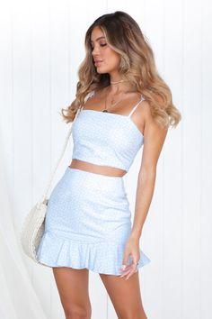 5e4ef0a191d3a Sweet As Sugar Skirt (Blue). Xenia Boutique