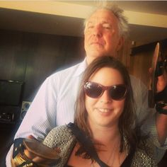 January 2015 -- Alan Rickman playing around with Ruby Wax's daughter, Madeline. -- Alan Rickman being ridiculously adorable with Ruby Wax's daughter, Madeleine