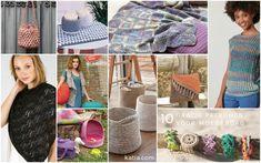 10 patronen voor moederdag door katia Yarn Inspiration, Lets Celebrate, Free Crochet, Knitting Patterns, Blog, Valentines, Tote Bag, Celebrities, Fashion