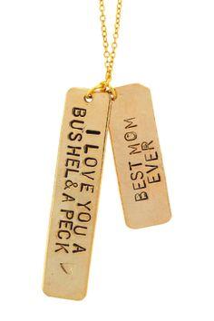 """Bushel & A Peck"" Pendant Necklace #mothersday"