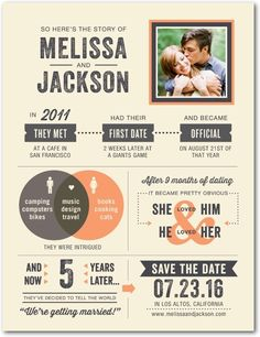 Tender Timeline - Signature White Photo Save the Date Cards - Magnolia Press - Tangerine - Orange : Front Electronic Wedding Invitations, Wedding Stationary, Wedding Programs, Wedding Timeline, Wedding Venues, Wedding Mandap, Wedding News, Save The Date Postcards, Save The Date Cards