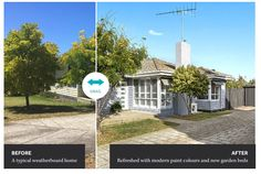 A typical weatherboard home: Refreshed with modern paint colours and new garden beds