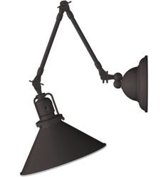 Reed Industrial Swing-Arm Wall Sconce A#5560 - Rejuventaion $335 (60W max; UL Listed Dry; recommend using this fixture in well-ventilated bathrooms)