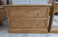 Solid pine wood shaker country style, bedroom chest of drawers with wooden handles. Bedroom Chest Of Drawers, Wooden Chest, Shaker Style, Solid Pine, Wooden Handles, Painting On Wood, Country Style, Furniture, Home Decor