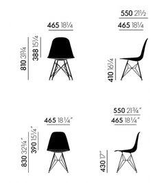 Vitra - Eames Plastic Side Chair DSW Sedia - Milia Shop