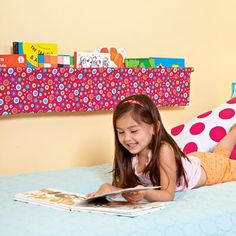 The Book Sling: No sewing needed to create this clever holder for favorite bedtime reads! by lynne