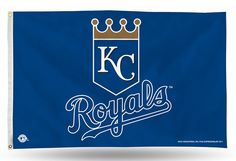 KC ROYALS SHIELD LOGO BANNER FLAG