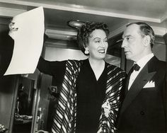 Gloria Swanson and Buster Keaton on the set of Sunset Blvd. (1950)