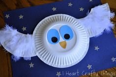 The story inspired us to make The Little White Owl Craft made simple with paper plates. Fun book inspired preschool craft and paper plate crafts. Kids Crafts, Owl Crafts, Animal Crafts, Toddler Crafts, Projects For Kids, Arts And Crafts, Letter Crafts, Alphabet Crafts, Paper Plate Art
