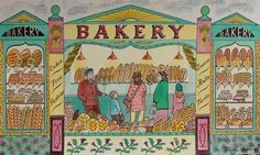 """""""Bakery"""" by Emily Sutton (watercolour). New work to be exhibited at York Open Studios: 25 & 26 April 2015"""