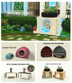 Pet Beds Pack 1 for The Sims 4