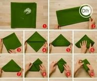 How To Fold Christmas Tree Napkins For The Dinner Table