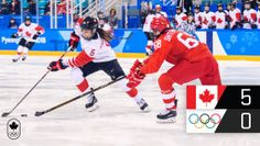Équipe Canada a vaincu les athlètes olympiques de la Russie en demi-finale au compte de 5 à 0. Il s'agit... Canada, Baseball Cards, Sports, Olympic Athletes, Ice Hockey, Russia, Hs Sports, Sport, Exercise