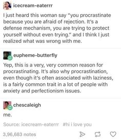 """But if I tell someone this it's """"an excuse."""""""