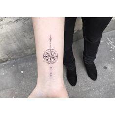 "MΔXLESQUΔTT Lencrerie on Instagram: "" Rose des vents  #lencrerie #tattoo #blackworkerssubmission #blackink #blackworkers #arrow #tattooparis #tatouageparis #rosedesvents…"""