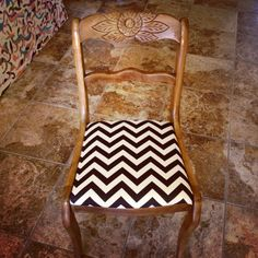 Re upholstered my kitchen chairs
