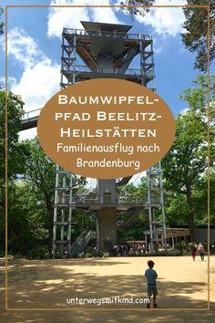 Der Baumwipfelpfad in Beelitz-Heilstätten ist sehr speziell und perfekt geeignet für einen Familienausflug von Berlin. #ausflugsziele #brandenburg #berlin #natur #geschichte #lostplaces #familienausflug #spielplatz