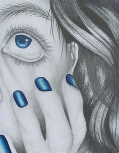 Close-up Graphite Study w/ Color Focal Point - Conway High School Art Project