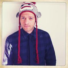 Misha Collins being beautiful.