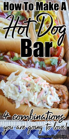 Dinner Recipes Easy Quick, Quick Easy Meals, Summer Recipes, Easy Recipes, Hot Dog Buffet, Barefeet In The Kitchen, Dog Food Recipes, Snack Recipes, Gourmet Hot Dogs