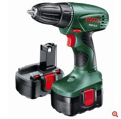 Bosch Cordless Ni-Cd Drill driver 2 batteries - B&Q for all your home and garden supplies and advice on all the latest DIY trends Cordless Power Drill, Cordless Drill Reviews, Battery Drill, Air Hammer, Batterie Rechargeable, Buy Electronics, Tool Store, Electrical Tools, Work Tools