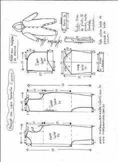 Sewing Blusas Blusa regata com gola boneca - Bricolaje - molde, corte y costura - Marlene Mukai - Visite o post para mais. Sewing Clothes Women, Baby Clothes Patterns, Dress Sewing Patterns, Blouse Patterns, Sewing Patterns Free, Clothing Patterns, Diy Clothes, Free Pattern, Pattern Dress