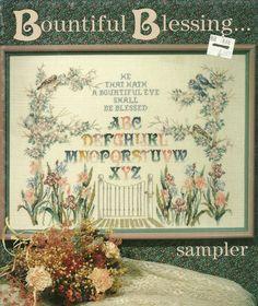 Bountiful Blessing Religious Sampler Cross Stitch Pattern Leaflet Sampler