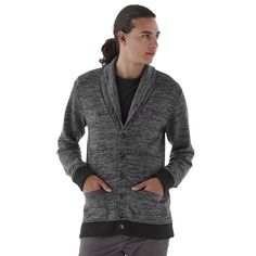 Men's Vans Shawl-Collar Cardigan, Size: Medium, Med Grey